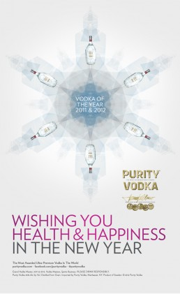 Purity Vodka holiday card