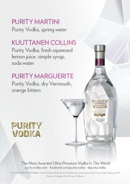 Purity Vodka menu