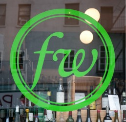 Frankly Wines window decal